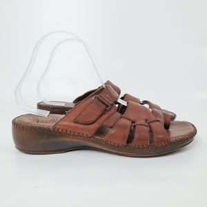 Dr. Scholl's Double Air Pillo Leather Sandals